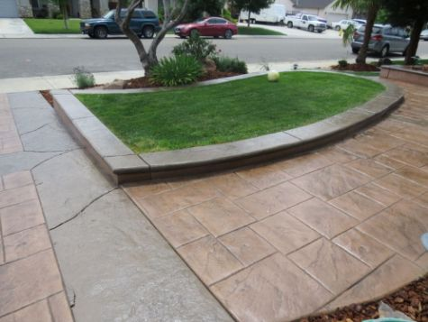 this image shows concrete driveway aliso viejo ca