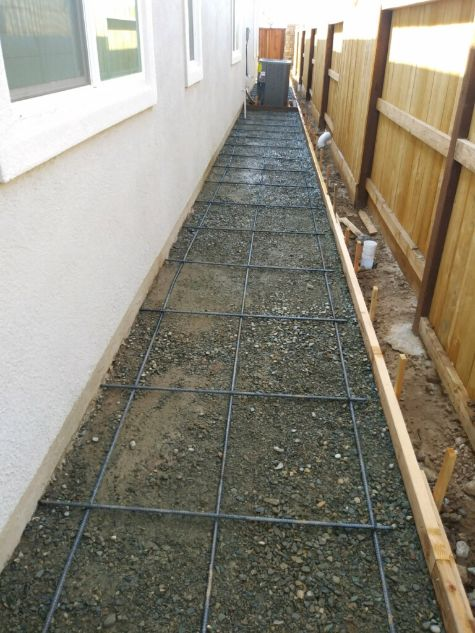 this is an image of concrete foundation in Aliso Viejo