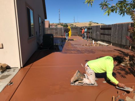 this is an image of stained concrete in aliso viejo