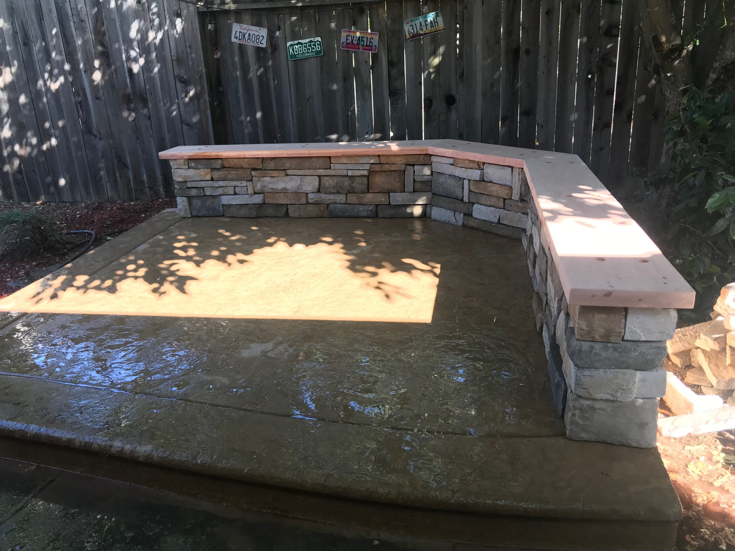 The photo shows the finished concrete work in Aliso Viejo.