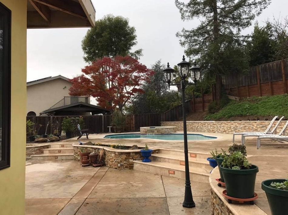 An image of finished concrete work in Aliso Viejo.