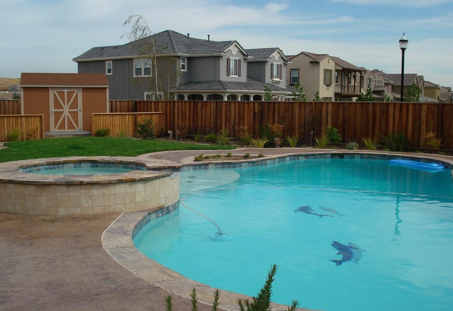 this is an image of pool deck in Aliso Viejo