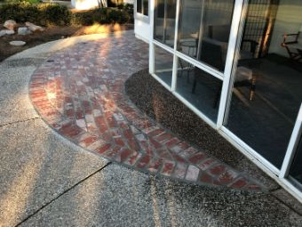 this image shows brick work in Aliso Viejo, California