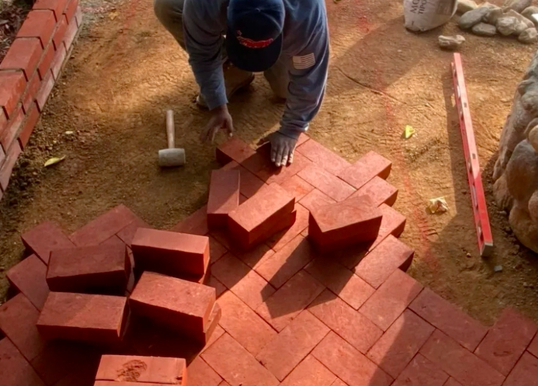 this image shows brick pavers in Aliso Viejo, California