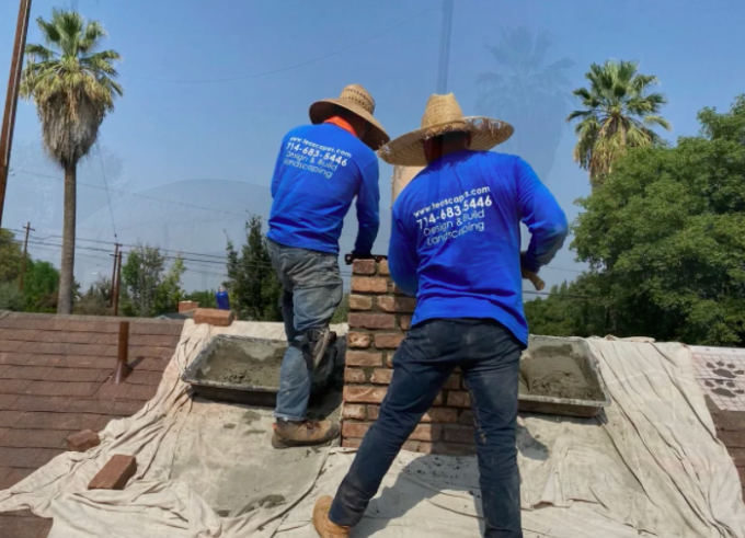 this image shows bricklayer in Aliso Viejo, California