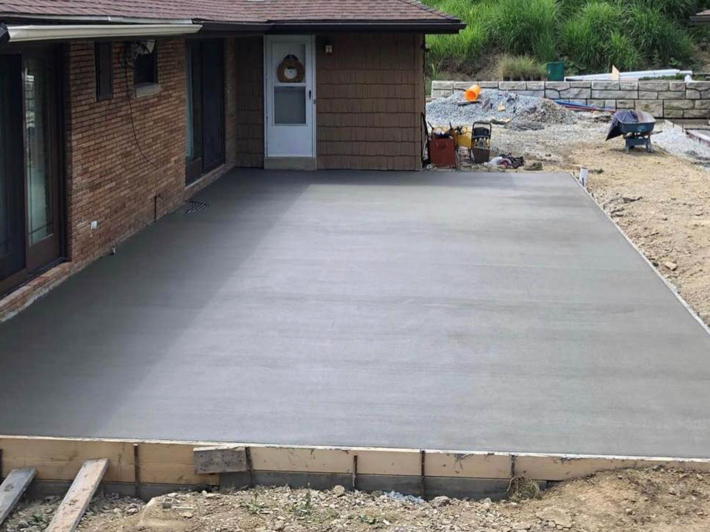this image shows concrete leveling in Aliso Viejo, California