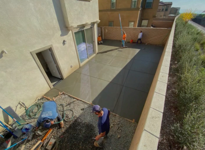 this image shows patio in Aliso Viejo, California