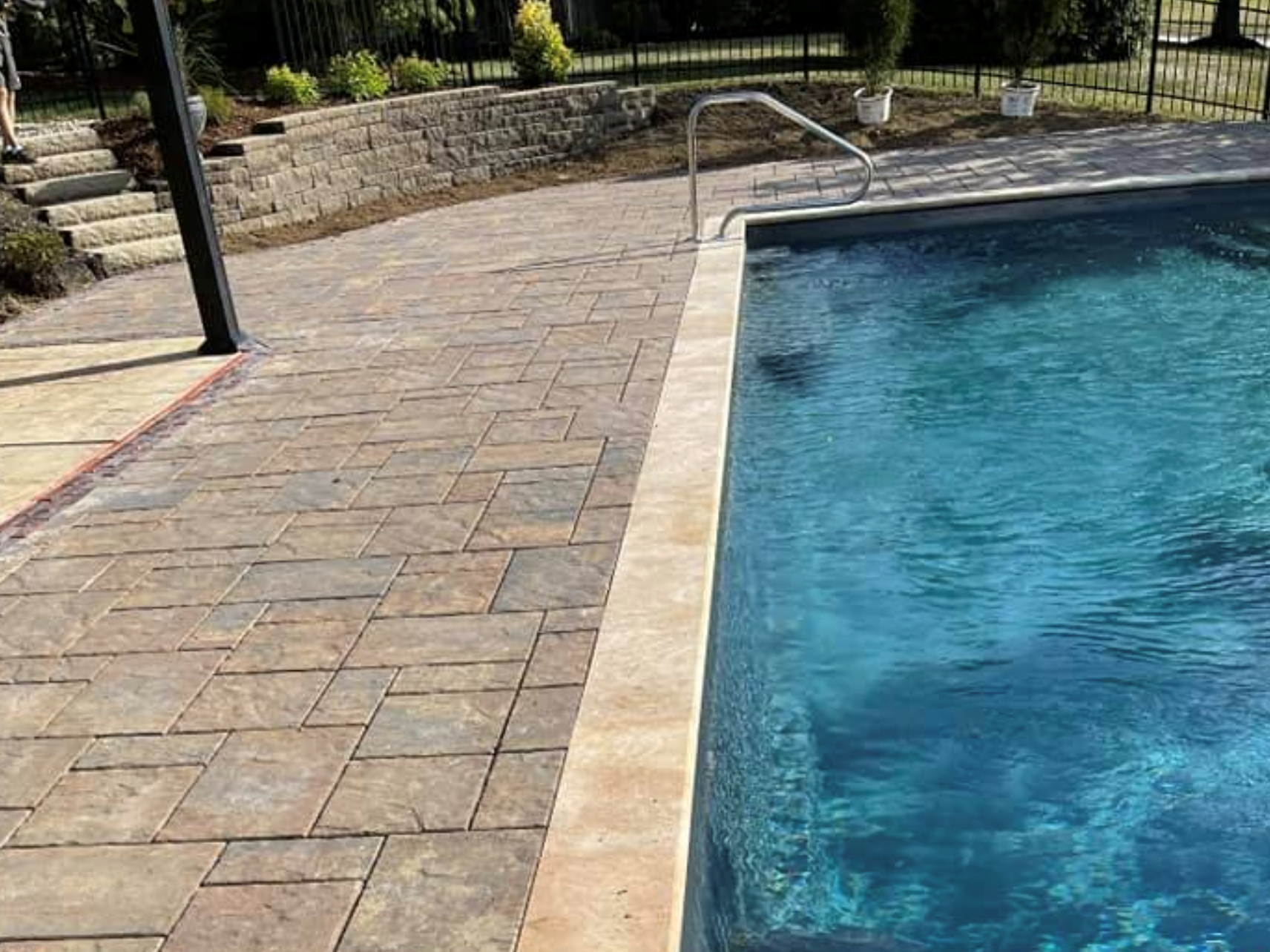 this image shows pool deck in Aliso Viejo, California