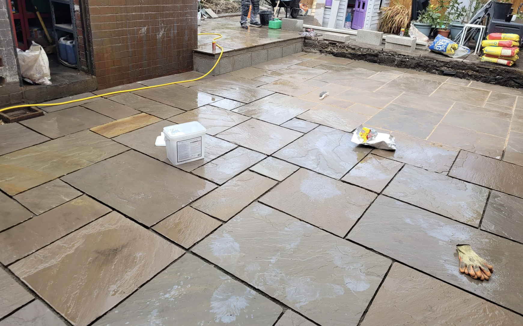 this image shows stained patios in Aliso Viejo, California